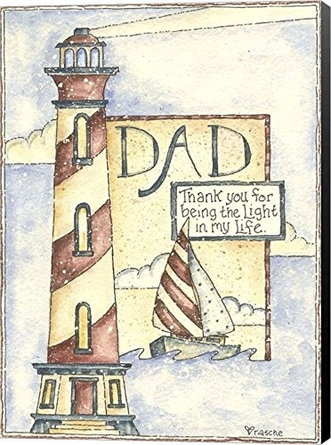 Dad Thank You by Shelly Rasche Canvas Art Wall Picture, Museum with Black Sides, 12 x 16 es