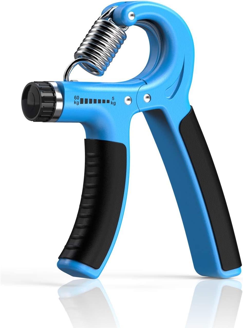 Longang Hand Grip Strengthening Resistance Réglable 5-60 kg – Exerciseur de poignée, renforcement de la poignée, Presse-Mains