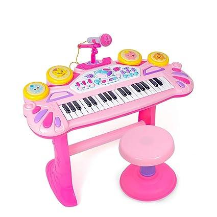 DUWEN El órgano electrónico para niños, principiante, niña, juguete, juguete multifuncional,