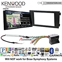 Volunteer Audio Kenwood DNX874S Double Din Radio Install Kit with GPS Navigation Apple CarPlay Android Auto Fits 1999-2006 Audi A6