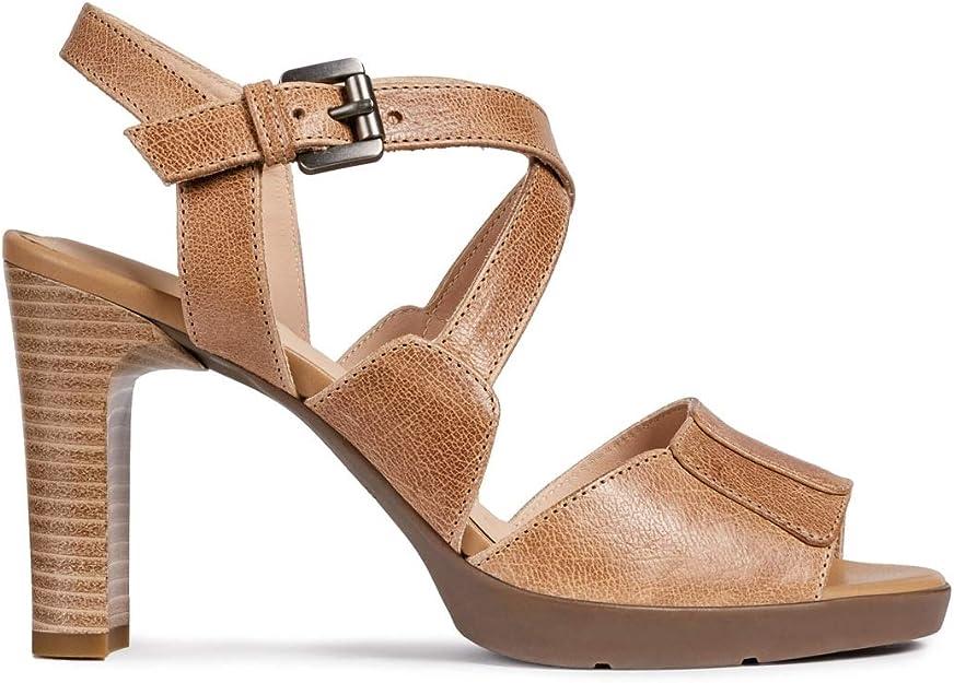 geox damen sandale taupe
