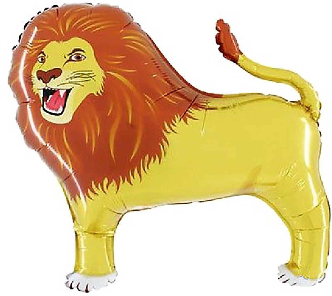 "3.3 Feet} 1 Unit of Helium /& Air Inflatable Mylar Aluminum Foil Balloon w// Zoo Safari Wildlife Animals Lion Design in Bright Yellow /& Brown Custom mySimple Products SG/_B0178GADFU/_US Fun /& Cool {XXL Massive Huge Size 40/"" Inches"