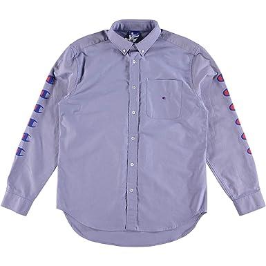 931504811cb6 Champion Reverse Weave x Beams Button Down Oxford Shirt Blue: Amazon.co.uk:  Clothing