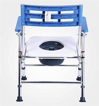 Moontang Cómoda Plegable Plegable de Aluminio Reforzado Antideslizante portátil Mujeres Embarazadas Baño casero extraíble, B (Color : -, tamaño : B): ...