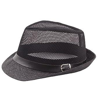 VPASS Women Men Panama Mesh Bucket Hat Beanie Trilby Gangster Premium  Cotton Cap Beach Sun Sun ff46553a41d1