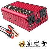 LVYUAN 700W/1500W(Peak) Power Inverter DC to AC 12V to 110V Car Inverter DC 12V Inverter with 3.1A USB Car Adapter