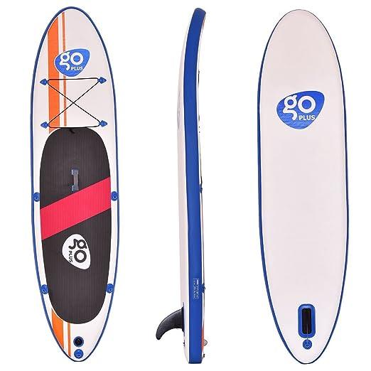 Goplus 10 hinchable de paddle board SUP con aleta ajustable ...