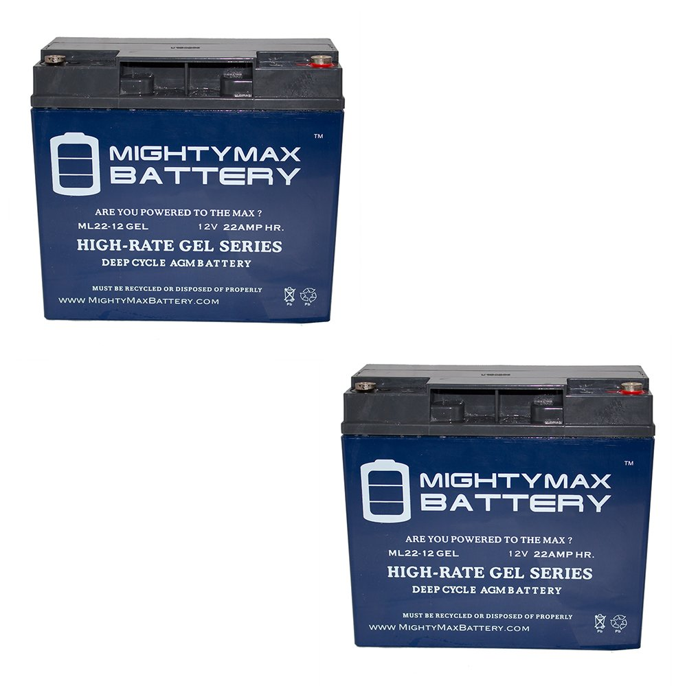 12V 22AH GEL Battery for Drive Medical Cobalt Travel KO821 - 2 Pack - Mighty Max Battery brand product
