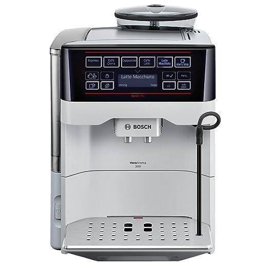 Bosch TES60351DE - Cafetera (Independiente, Máquina espresso, 1,7 L, Molinillo integrado, 1500 W, Negro, Plata)
