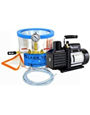 Glass Vac 3 Gallon Tall Stainless Steel Chamber with VE115 3 CFM Single Stage Pump Kit *FREE SHIPPING*