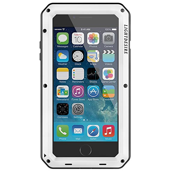 half off 77597 44c1a iPhone 6S Plus Case LIGHTDESIRE Aluminum Alloy Protective Metal Extreme  Water Resistant Shockproof Military Bumper Heavy Duty Cover Shell for  iPhone ...