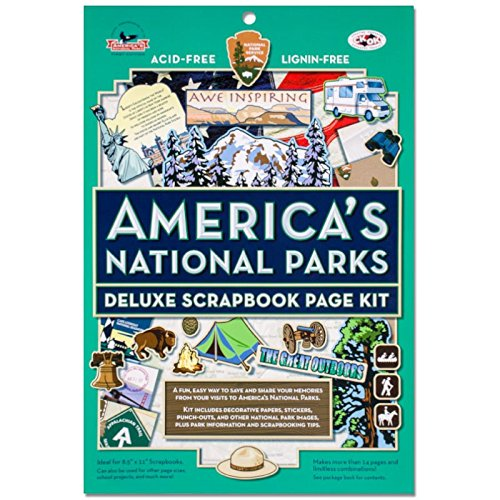 America's National Parks Deluxe Scrapbook Page Kit by Eastern National