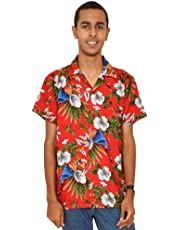 Island Style Clothing Mens Magnum Parrots Hawaiian Shirts Floral Tropical Party Cruise Clothing