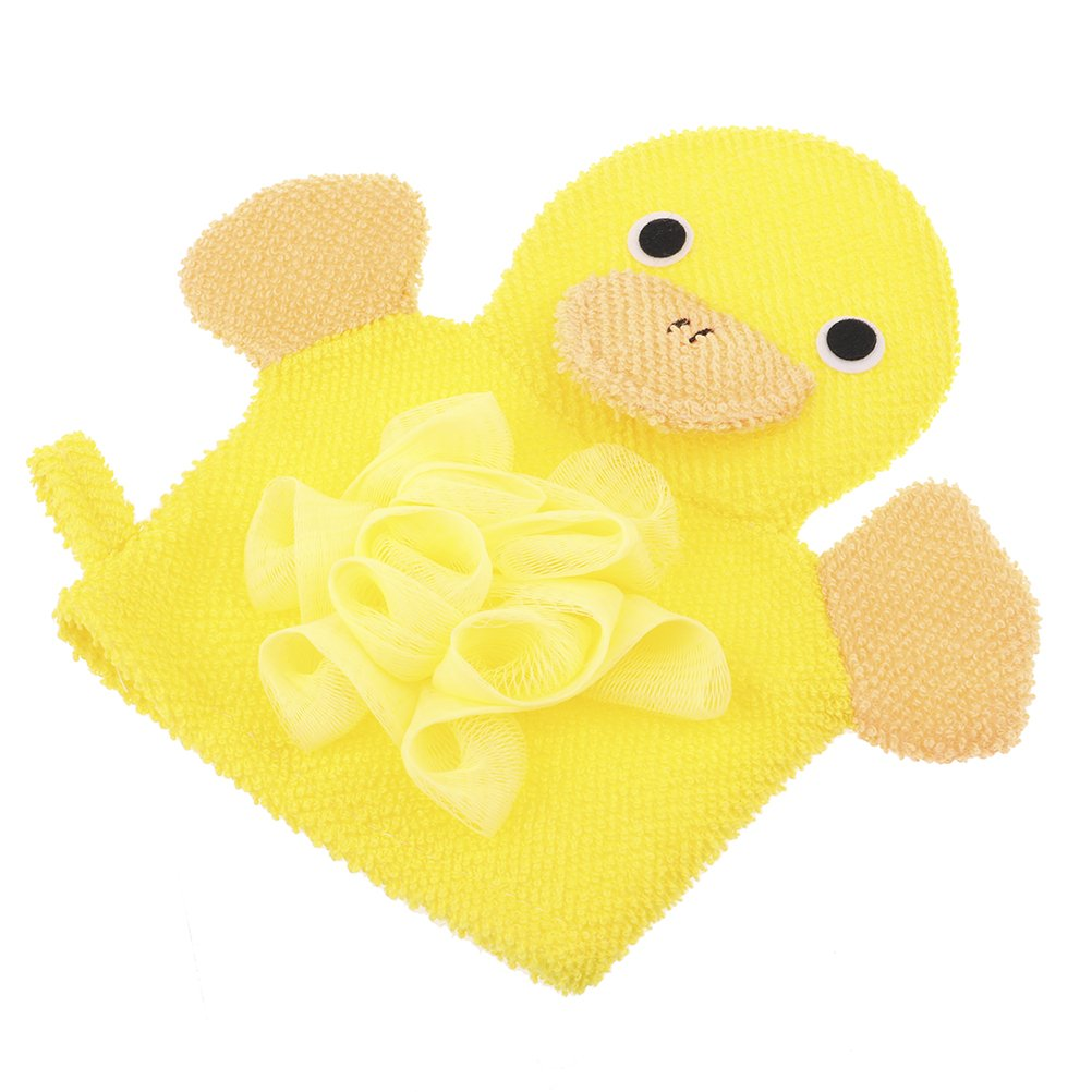 Kayueti Baby Bath Sponge,Non-Toxic,Skin-Friendly Soft Terry Cloth Bath Puppet,Wash Cloth,Bath Mitt,Terry Cloth Bath Mitt Set,Bath and Shower Loofah Sponge for Kids,Cartoon Face Design