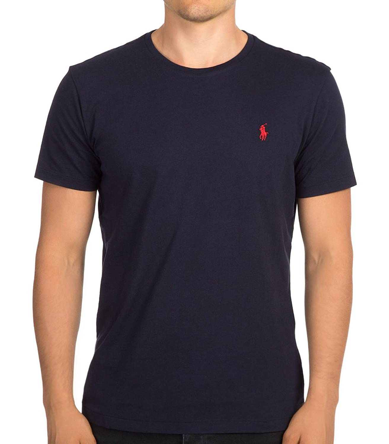 Polo Ralph Lauren Men\u0027s Classic Fit Crew Neck Pony Logo T-Shirt, Ink, L |  Amazon.com
