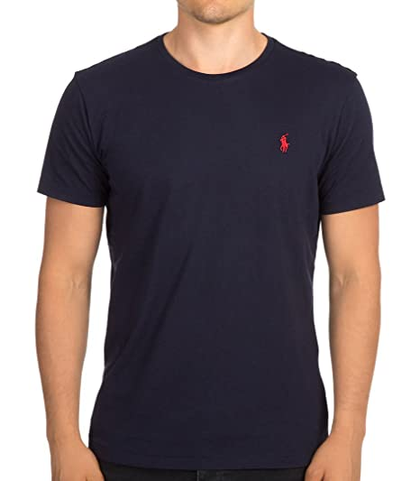 Polo Ralph Lauren - Mens Small Pony Crew Neck Cotton Jersey T-Shirt - Standard  Fit  Amazon.co.uk  Clothing 178dbb723386