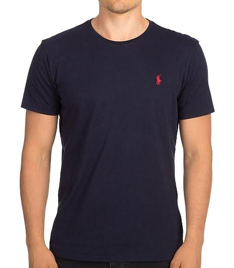 Polo Ralph Lauren Shirt à col Rond pour Homme  Amazon.fr  Vêtements ... 2d495c5d874