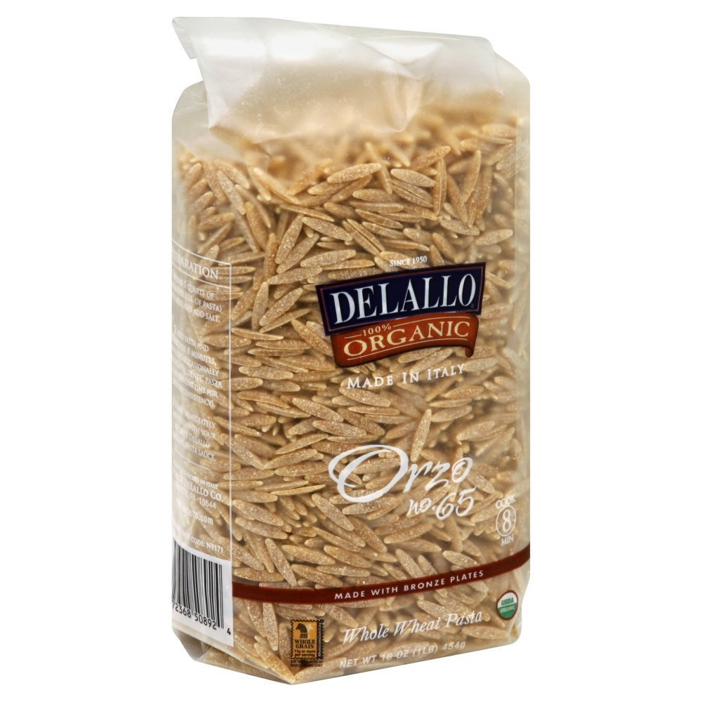 DeLallo Whole Wheat Orzo 16.0 OZ(Pack of 6)