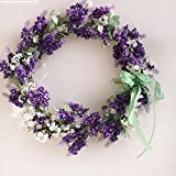 Artificial Wreaths/Lavender Wreaths for Front Door Flower Wreath/Wedding Wreath/Home Decor Wreaths/Beautiful Wreath for Wall