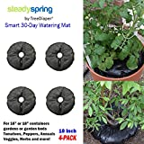 SteadySpring Smart 30-Day Watering Mat for Tomato Plants, Peppers, Veggies, Perennials, Annuals - Self-Fills with Rain (4)