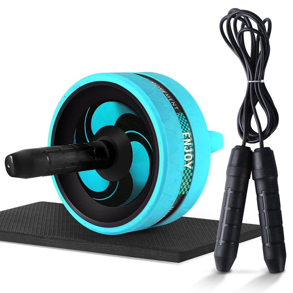 Ab Roller Wheel, Abdominal Exercise Wheel for Core Strength Training   with Knee Pad-BEST Core&Abs workout for home&outdoor