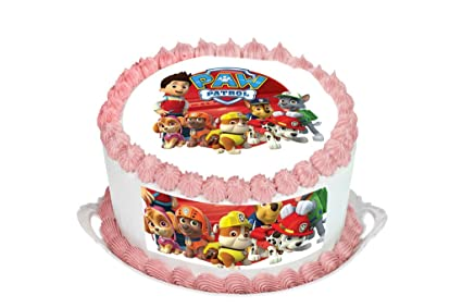 Paw Patrol Cake Topper. Round Cake Topper. Edible Rice Paper Wafer ... f9fabdacb
