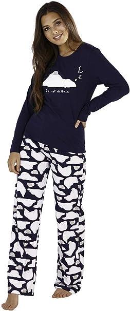 New Mens Novelty Christmas Slogan Printed Gift Fleece Long Pyjama Set Bottoms