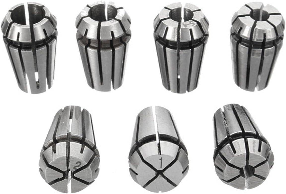 YeBetter 7Pcs ER11 1-7mm Spring Collets with ER11A 5mm Motor Shaft Holder Extension Rod