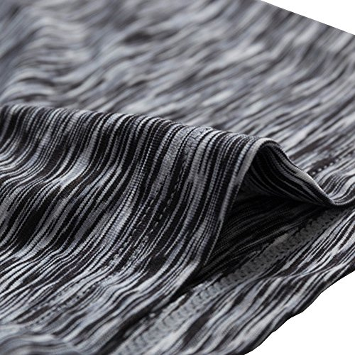 Bmeigo Mujer compresión Atlético Fitness Pantalón corto con función de secado rápido Black