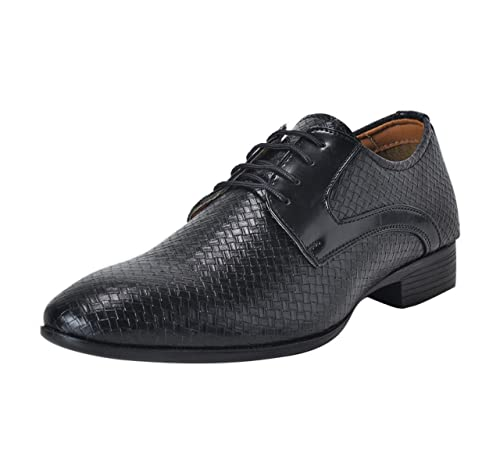 1bb056ace37 Lazard from Khadims Mens Black Faux Leather Derby Shoe - 7  Buy Online at  Low Prices in India - Amazon.in