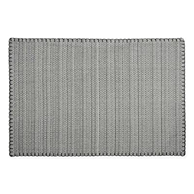 "HomeCrate Elegant Lyon Collection Woven Placemats, 13"" X 19"" Set of 4 - in Gray - LIVE IN STYLE! - The elegant Lyon collection placemats has the perfect combination of size, color, quality, and style, allowing you to choose the best table linen for every occasion! LYON COLLECTION - The stunning, detailed and decorative design, is made to be elegant yet simple and classy. This fresh contemporary design will surely adorn your table decor throughout the year. ADD A FRESH TOUCH - Dress up your table top and update your home with the attractive placemats that will enhance and brighten up your home, and will surely add a beautiful touch to your table decor. - placemats, kitchen-dining-room-table-linens, kitchen-dining-room - 610qALZb9XL. SS400  -"