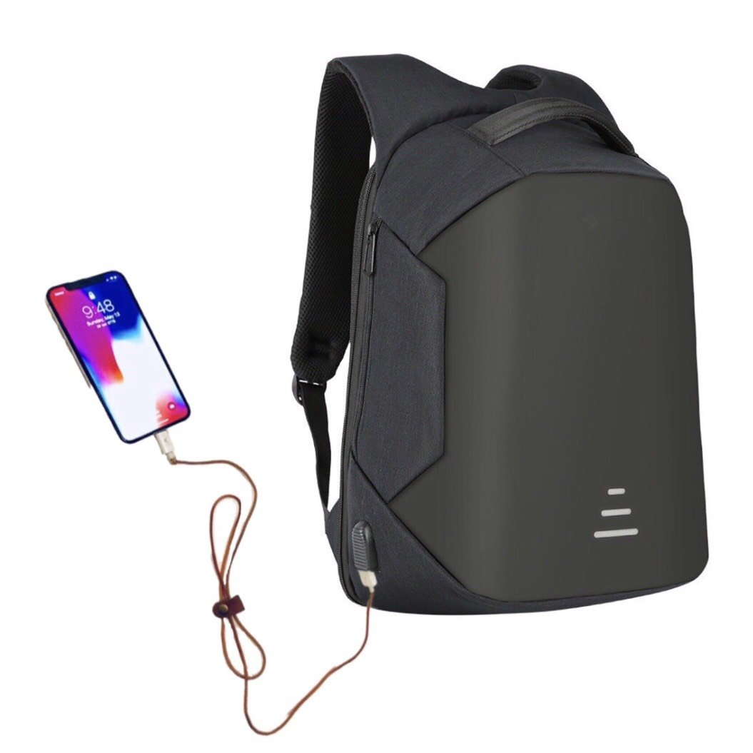 Wonder Anti Theft Slim Laptop knapsack, with Useful Headphone & USB Charging Port, Convenient softback for Comfortable Travel. Unisex, Waterproof & Rainproof Backpack, fits 15.6 inch Laptop (Black)