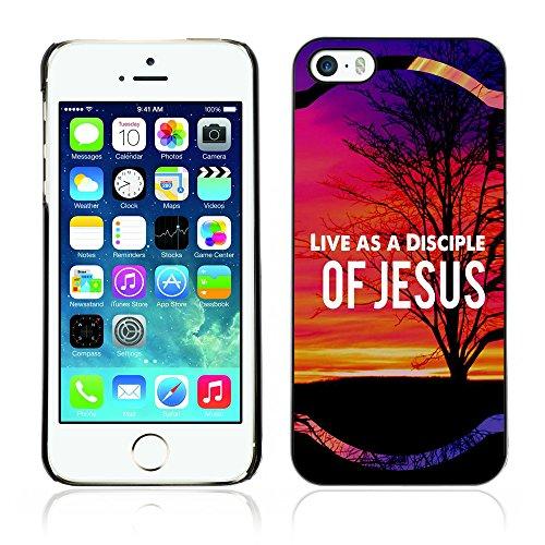 DREAMCASE Citation de Bible Coque de Protection Image Rigide Etui solide Housse T¨¦l¨¦phone Case Pour APPLE IPHONE 5 / 5S - LIVE AS A DISCIPLE OF JESUS