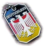 GERMANY EAGLE GERMAN FLAG DEUTSCHLAND PENDANT BUNDESADLER DOG TAG BALL CHAIN NECKLACE