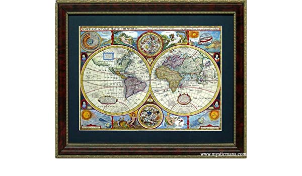 Amazon framed old world map antique cartography by john speed amazon framed old world map antique cartography by john speed home decor products posters prints gumiabroncs Gallery