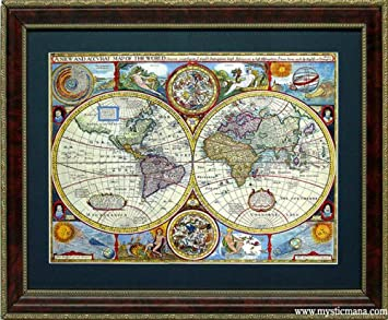 Amazon framed old world map antique cartography by john framed old world map antique cartography by john speed gumiabroncs Image collections