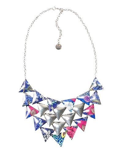 DESIGUAL Damen-Halskette Global traveller Versilbert-71G9EJ45016U