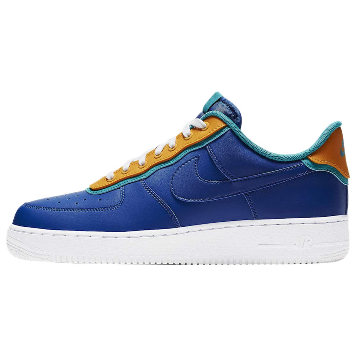 MultiCouleure (Indigo Force Indigo Force Canyon or 000) Nike Air Force 1 '07 Lv8 1, Chaussures de Basketball Homme 43 EU
