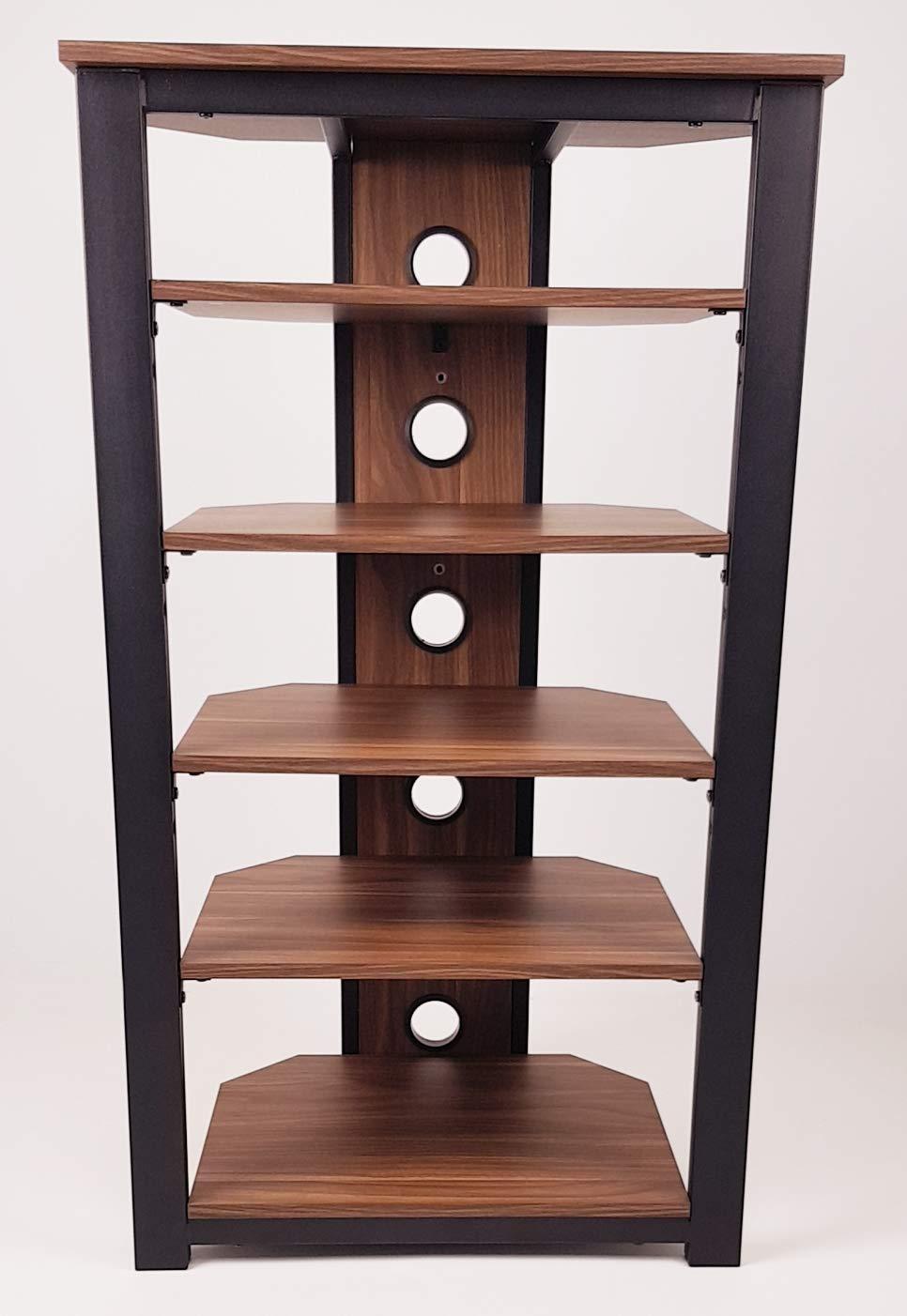Gecko Tower TOW600 Mobiletto per sistema HiFi con 6 ripiani in legno