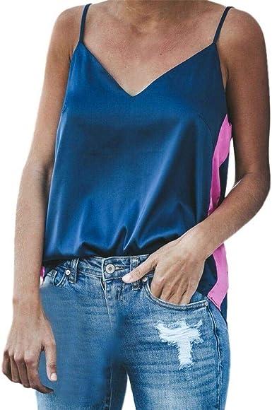 Camisetas sin Mangas Mujer SHOBDW Verano Playa Mar Tops del ...