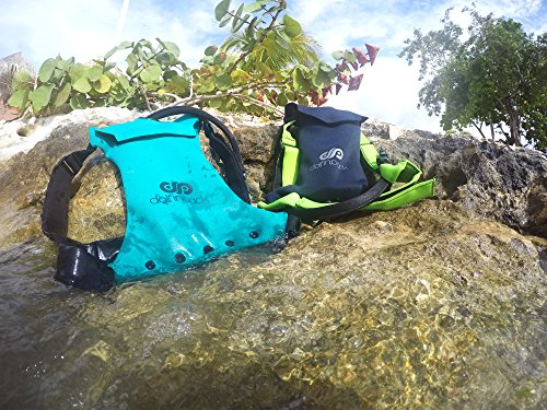 """DolfinPack Lightweight, Form-fitting, Waterproof, Extreme Sports Hydration Pack 8 Awards: Winner of the hydration anywhere """"best running hydration pack"""".  Featured in SUP magazine as a top hydration pack of 2015. Lightweight, minimalistic hydration pack for extreme sports and on the go hydration. Perfect for marathons, stand-up Paddle boarding, biking, surfing, hunting, snowboarding, skiing & other extreme sports."""