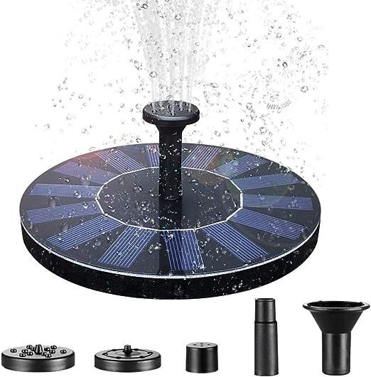 AOFENG 1.4 W Solar Fuentes, Recipiente de Bengala Brunnen - Bomba Solar para Estanque, Pescado, Jardín Bomba Agua Parte Decoración, Type A: Amazon.es: Jardín