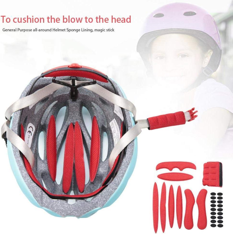 Tbest Soft Helmet Padding Kit Universal Bike Motorcycle Helmet Pad Helmet Sponge Helmet Magic Stick Anti-Collision Lining Sponge Protection with Viscose