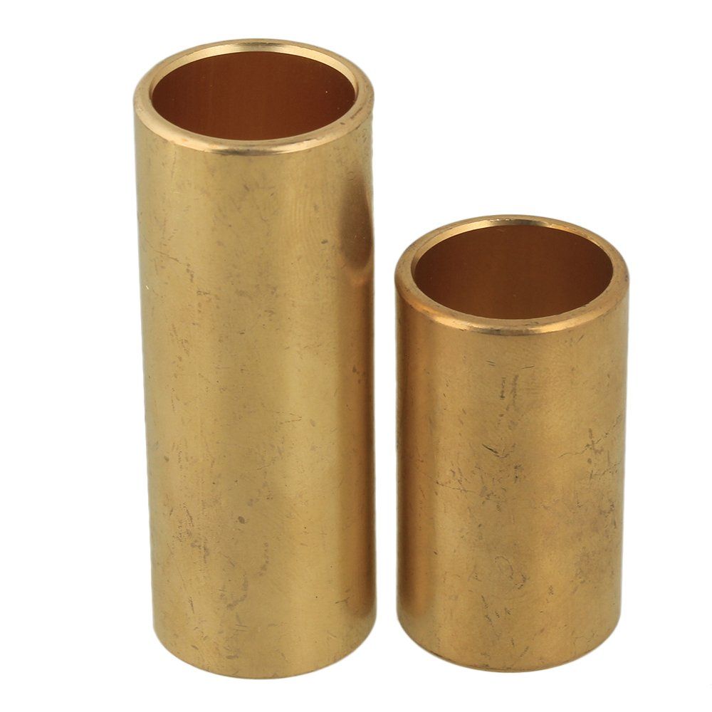 BQLZR 24x20x62/40mm Golden Brass Guitar Finger Knuckle Slide Tube Guitar Accessories Pack of 2 N24436