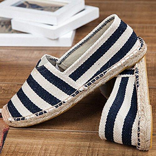 Vogstyle Unisex Adulto Zapato Flats Ballerinas Slip-On Zapatos de Lona Estilo 1-Negro