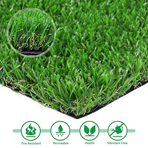 Artificial lawn Premium Synthetic Turf Fake Grass Indoor Outdoor Landscape Pet Dog Area, More Than 30 (3' x 6') by Artificial lawn