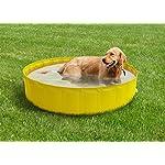 New-Plast-My-Dog-Pool-O-220-cm-Piscina-per-Cani-Arancione-355x15x55-cm