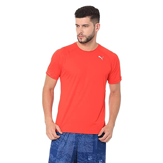 c4997dcd92 Puma Core-Run S S Tee Flame Scarlet: Amazon.in: Clothing & Accessories