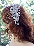 Bridal Veil for Wedding, Bandeau Art Deco Veil
