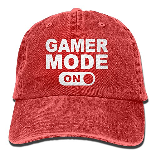 ac8aec88845 Buyiyang-01 Men Women Gamer Mode On Yarn-Dyed Denim Baseball Hat Adjustable  Trucker